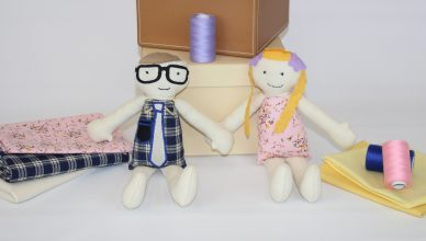 Dolls holding hands