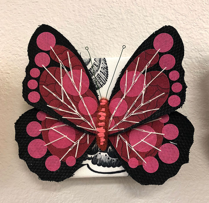 My pink and red butterfly