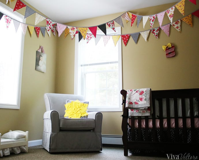 bunting in baby's room