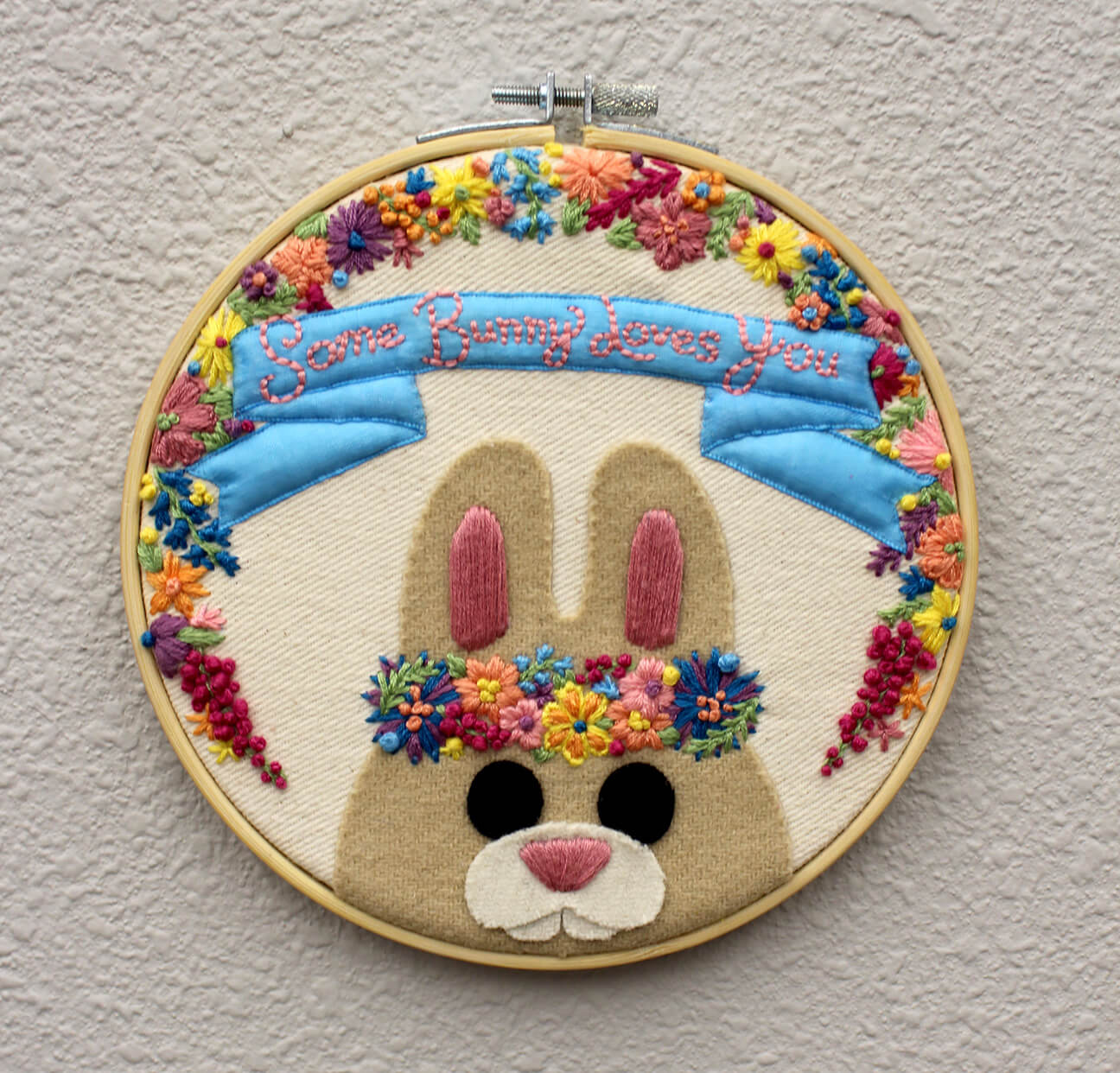 Embroidered bunny